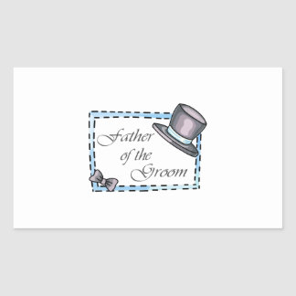 FATHER OF THE GROOM RECTANGULAR STICKER