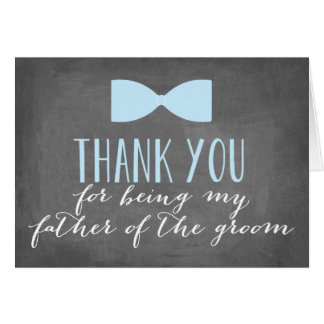 Father of the Groom Thank You | Groomsman Card
