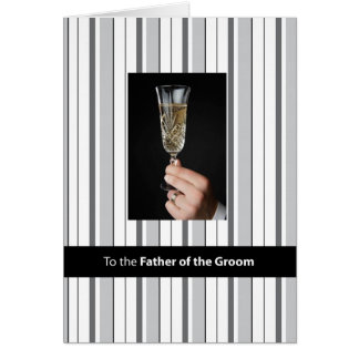 Father of the Groom, Thanks Champagne Toast, Black Card