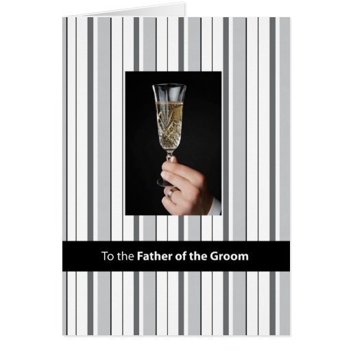 Father Of The Groom, Thanks Champagne Toast, Black