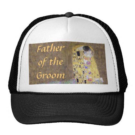 Father of the Groom The Kiss Gustav Klimt Wedding Trucker Hat