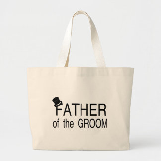 Father Of The Groom Top Hat Canvas Bag