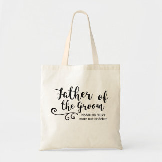 Father of the Groom Tote Bag | Fun Modern Script