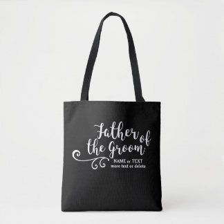 Father of the Groom Tote Bag White Modern Script