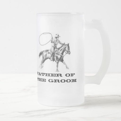 Father of  The Groom western  Frosted Coffee Mug