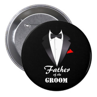 Father of the Groom with Tuxedo Shirt - Button