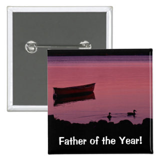 Father of the Year! 2 Inch Square Button