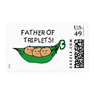 Father of Triplets Pod Stamp