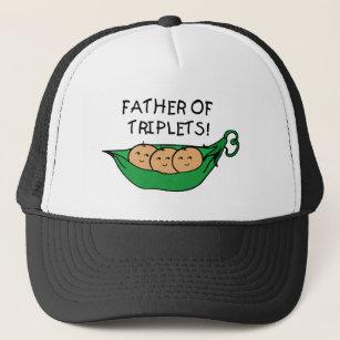 b0563e51745 Father of Triplets Pod Trucker Hat