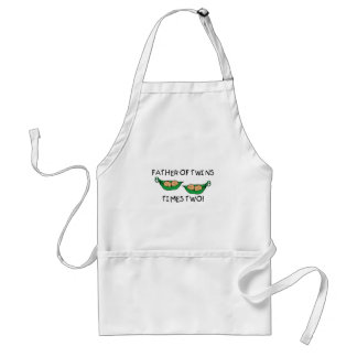 Father of Twins 2X Pod Adult Apron