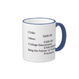 Father of Twins Ringer Coffee Mug