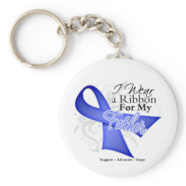 Father Periwinkle Ribbon - Stomach Cancer Keychain