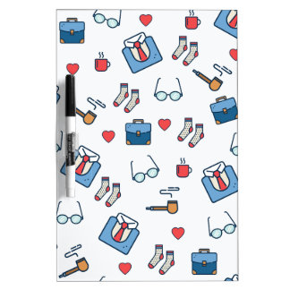 Father pipe pattern dry erase board