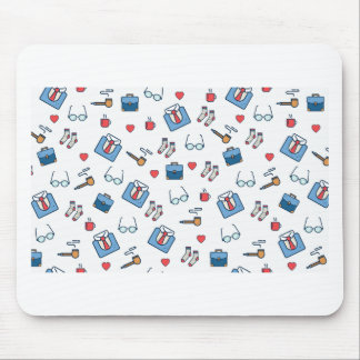 Father pipe pattern mouse pad