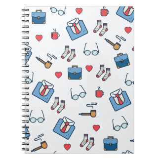 Father pipe pattern notebook