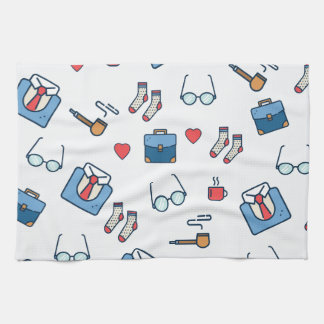 Father pipe pattern towel