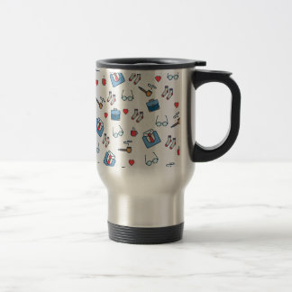 Father pipe pattern travel mug