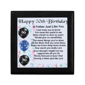 Father Poem - 50th Birthday Gift Box