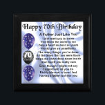 "Father Poem - 70th Birthday Keepsake Box<br><div class=""desc"">A great gift for a father on his 70th birthday.</div>"