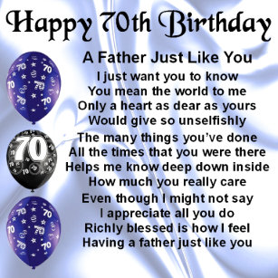 Father 70th Birthday Gifts On Zazzle