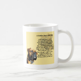 Father Poem - Boxer Dog Design Coffee Mug