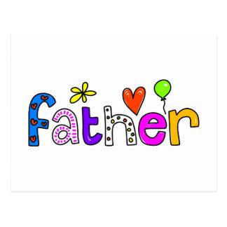 father postcard