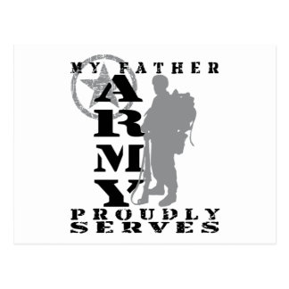 Father Proudly Serves - ARMY Postcard