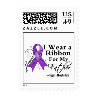 Father Purple Ribbon - Pancreatic Cancer Stamps