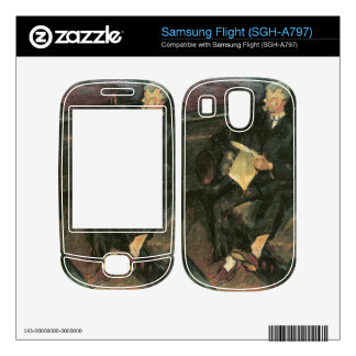 Father reading by Walter Gramatte Decal For Samsung Flight