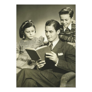 Father Reading to Son Card