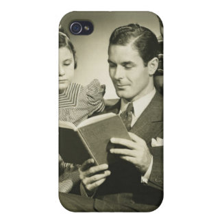 Father Reading to Son iPhone 4/4S Covers