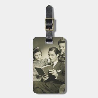 Father Reading to Son Luggage Tag