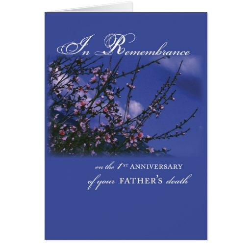 Father remembrance st anniversary card zazzle