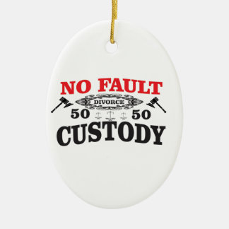 father rights at custody ceramic ornament