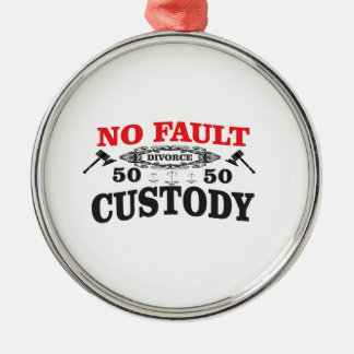 father rights at custody metal ornament