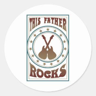 Father Rock Classic Round Sticker
