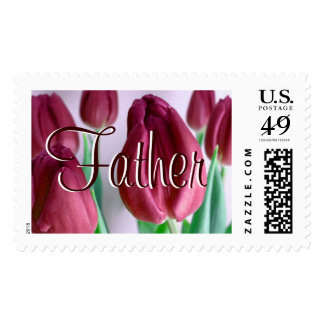 Father - Rosey Tulips I Postage Stamp