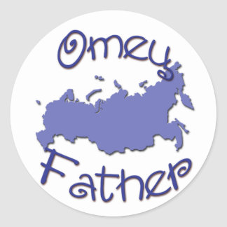 Father Russian Map Stickers