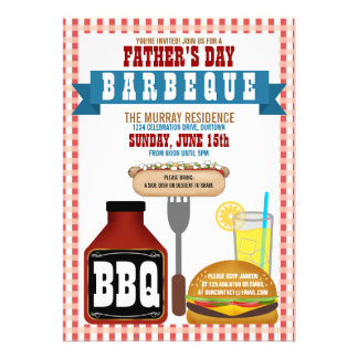 Father s Day Barbeque Party Invitations