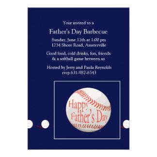 Father s Day Baseball Invitation
