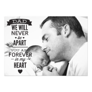 Father s Day Flat Photo Card - Vintage Typography