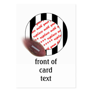 Father s Day Football - Referee Photo Frame Business Card Templates