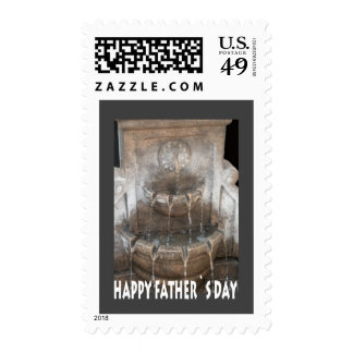 Father`s Day Fountain Postage