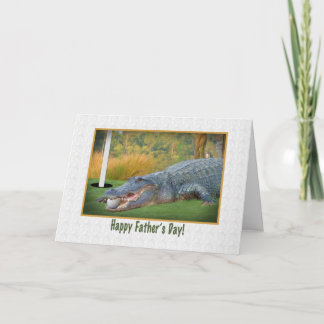 Father's Day, Golf, Alligator Card