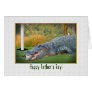 Father's Day, Golf, Alligator Cards