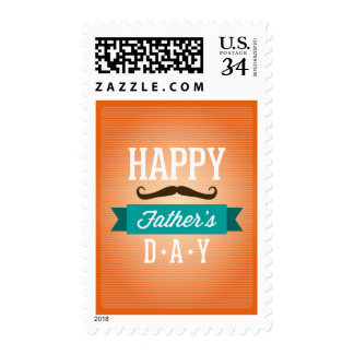 """Father""""s Day Greeting Funny Mustaches Postage"""