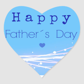 Father´s day heart sticker