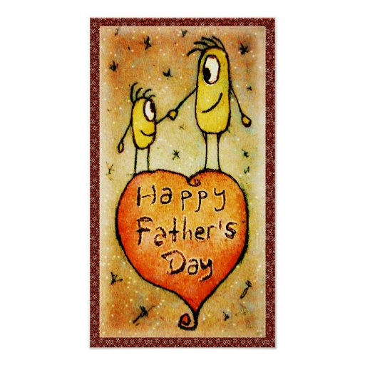 Father´s day Illustration Poster