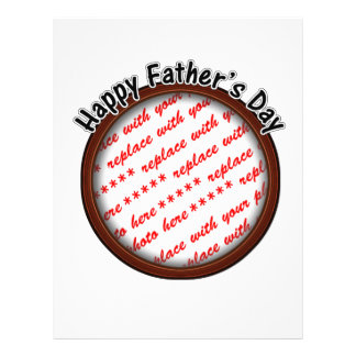 Father s Day Round Brown Photo Frame Flyer