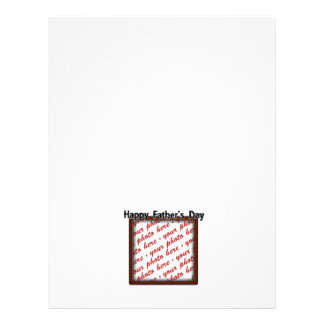 Father s Day Square Brown Photo Frame Flyers